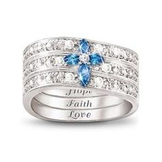 Elegant Faith Hope and Love Rings are a fabulous gift for any time of year. These come in simple sterling silver classics as well as luxurious...