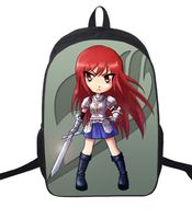 16 Inch FAIRY TAIL Backpack For Teenagers Girls Boys School Bags Natsu Dragneel Daily Backpack Erza Scarlet Backpacks Kids Bag