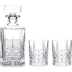 WATERFORD Marquis Brady crystalline Double Old Fashioned tumblers and... (115 CAD) ❤ liked on Polyvore featuring home and kitchen & dining