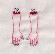 Alaina Varrone uses embroidery as medium to express his art.