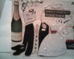 BRIDE And GROOM CONGRATULATIONS Card Wedding by CathysCraftWorld