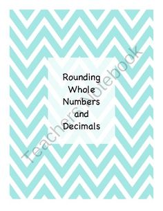 Rounding Whole Numbers and Decimals from PamBlack on TeachersNotebook.com -  (7 pages)  - Matching game for practicing rounding whole numbers and decimals