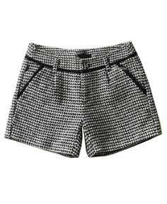 #CHICNOVA Houndstooth Mid-rise Waist Shorts