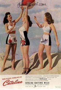 Vintage Swimwear Womens Swimsuits Bathing Suits 1920s - 1950s