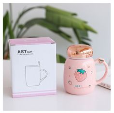 Strawberry Farm, Cute Baking, Cup Art, Soft Drink, Gamer Room, Lunch Boxes, Milk Tea, Travel Mugs, Shape Design