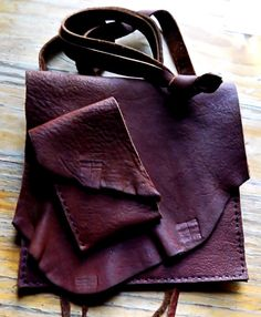Hand Sewn Reddish Chocoate Brown Leather by LeatherCrafted on Etsy, $37.00