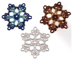 Beaded snowflake Purchase pattern http://www.ecrafty.com/casearch.aspx?SearchTerm=snowflake