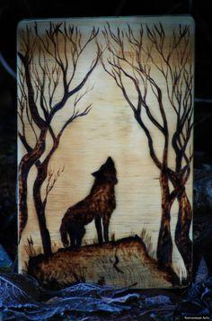 Wolf Wood Burning.