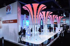 Inspiring by Nature – Innovative exhibition stand design for Huawei at the Consumer Electronics Show in Las Vegas   IS group   it's your corporate presentation