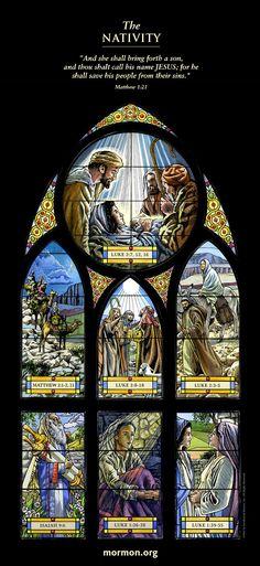 Story of Christmas Stained Glass Mormon.org  「彼女は男の子を産むであろう。その名をイエスと名づけなさい。彼は、おのれの民をそのもろもろの罪から救う者となるからである。」マタイ1:21 #聖書 #クリスマス #キリスト教 #モルモン #lds