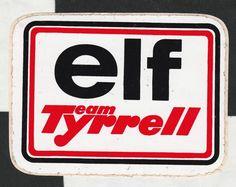 ELF TEAM TYRRELL F1 TEAM ORIGINAL PERIOD STICKER ADESIVO AUFKLIEBER STEWART ++ Racing Stickers, Vintage Racing, Hot Wheels, F1, Muscle Cars, Team Logo, Period, Decals, Movie