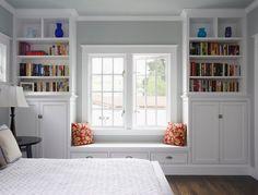 built in guest bedroom