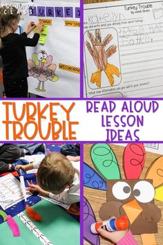 Have fun reading this book in November! Turkey Trouble reading comprehension lesson plans and engaging activities for kindergarten and first grade. #turkeytrouble #readinglessonplans #engagingreaders
