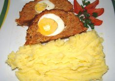Tojásos stefánia szelet Hungarian Cuisine, Hungarian Recipes, Hungarian Food, Cooking Recipes, Healthy Recipes, Other Recipes, Meatloaf, Mashed Potatoes, Food To Make