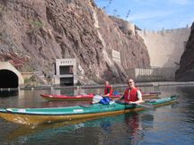 2 Day Kayaking Tour on Black Canyon which is the Colorado River, launching at the base of Hoover Dam.  All of your camping gear, food, and kayaks are taken care of! You can get picked up off the Las Vegas strip and the rest is taken care of! #desertadventures