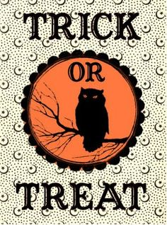 *The Graphics Fairy LLC*: Free Halloween Printable - Trick or Treat Bag Label