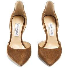 Jimmy Choo Liz 100mm suede pumps (£475) ❤ liked on Polyvore featuring shoes 2743d11ac20