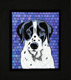 Custom mosaic portrait of our dog, Moses Mosaic Crafts, Mosaic Art, Mosaic Glass, Mosaic Animals, Glass Animals, Stained Glass Supplies, Stained Glass Art, Delphi Glass, Mosaic Portrait