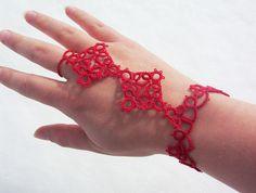 slave bracelet bracelet glove lace glove hand bracelet by MamaTats