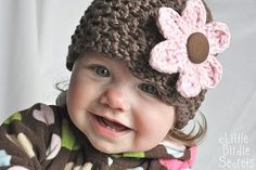 Little Birdie Secrets: new baby hat and bootie patterns in the shop {plus a free flower pattern}