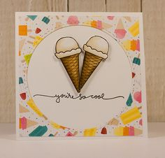 Love this card by Mary Dawn using the August 2014  card kit by Simon Says Stamp. July 2014
