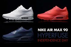NIKE AIR MAX 90 HYPERFUSE PRM AMERICAN USA FLAG UK7-10 TRAINERS INDEPENDENCE DAY in Clothes, Shoes & Accessories, Men's Shoes, Trainers | eBay