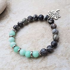 Náramek amazonit, jaspis se stromem života Beading Tutorials, Quartz, Beaded Bracelets, Beads, Crafts, Jewelry, Bangle Bracelets, Beading, Manualidades