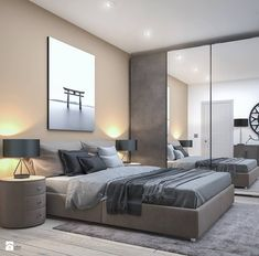 We're willing to bet you spend the most time in your bedroom out of any other space in your home. Modern Bedroom, Master Bedroom, Bedroom Decor, Gray Interior, Interior Design, New Room, New Homes, House Design, Furniture