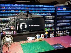 Nerd Room, Gamer Room, Airbrush, Craft Desk, Craft Rooms, Painting Station, Artist Workspace, Tool Storage Cabinets, Hobby Desk