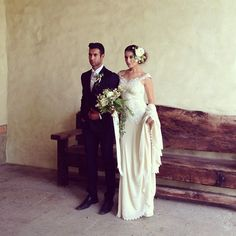hair Wedding Dress - 'Thalia' by Claire Pettibone - Photo: Nina Mullins