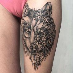 The black tattoos of the Russian artist Parvick Faramarz,