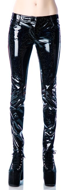 lip service glitter pvc skinny jeans  black leather skinny pants  October 2013