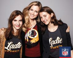 Tanya Snyder (center), wife of Washington Redskins owner Daniel Snyder, and her daughters, Tiffanie (left) and Brittanie know that when it comes to rivalries, you have to show off your team pride and stick together as a family.