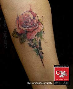 #abstract rose by tarun gohil at crazy ink tattoo studio raipur #tattoo #crazyink #rose #raipurartist #tattiooink #tattooidea #art #design #abstractrose