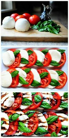 Caprese Salad Beautifully tantilizing HealthyEating CleanEating ShermanFinancialGroup is part of Salad - Ensalada Caprese, Caprese Salat, Yummy Recipes, Vegetarian Recipes, Cooking Recipes, Healthy Recipes, Recipes With Basil, Simple Salad Recipes, Vegetarian Lunch