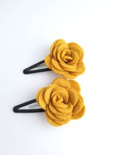 Excited to share the latest addition to my #etsy shop: Set of 2 Mustard Felt Flower Hair Clips, Toddler Hair Clips, Mustard Gold Hair Clip, Women's Hair Clips, Fall Hair Clips, Thanksgiving Bows http://etsy.me/2DTTy7s #accessories #hair #setof2mustard #feltflower #hair
