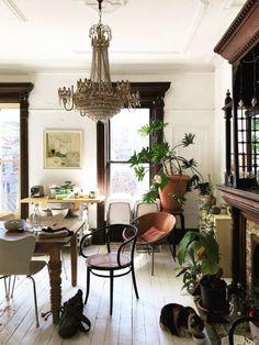 vintage home decor worthy: ericatanov. Vintage Modern, Vintage Home Decor, Bedroom Vintage, Living Room Flooring, Living Room Decor, Dining Room, Decor Room, Decor Interior Design, Interior Decorating