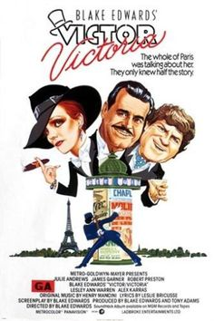 blake edwards' VICTOR VICTORIA vintage movie poster JULIE ANDREWS 24X36 hot