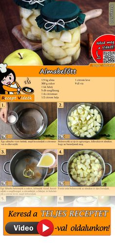 No Salt Recipes, Cookie Recipes, Hungarian Recipes, Food Storage, Preserves, Pickles, Nom Nom, Lime, Food And Drink