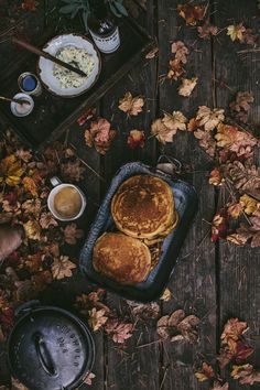 Autumn camping and pumpkin pancakes. Yes, please!