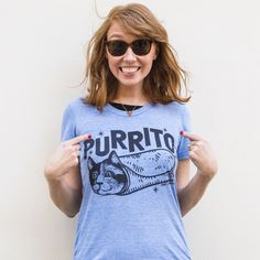 For all of your burrito and cat lovers out there.