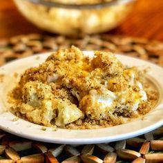 Cauliflower Dishes, Cheesy Cauliflower, Cauliflower Casserole, Casserole Dishes, Casserole Recipes, Cornbread Casserole, 9x13 Cake Recipe, Seven Layer Dip, Macaroni Recipes