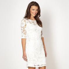 Debenhams little white lace dress.