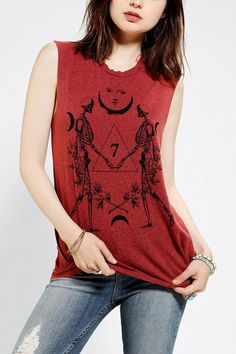 Truly Madly Deeply Cosmo Skeleton Muscle Tee