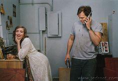Adorable artistic couple...Rachel Feinstein and John Currin.