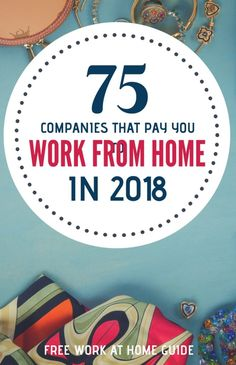 75 Companies That Pay You to Work from Home in 2016 #workathome #jobs #wahm #workfromhomejobs