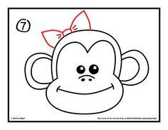 how to draw a monkey step 7