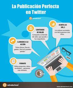 Hola: Una infogafía sobre la publicación perfecta en Twitter. Vía Un saludo