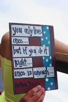 you only live once graduation gift. $13.95, via Etsy.