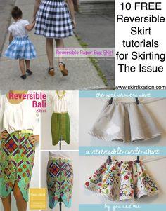 10 FREE reversible skirt tutorials